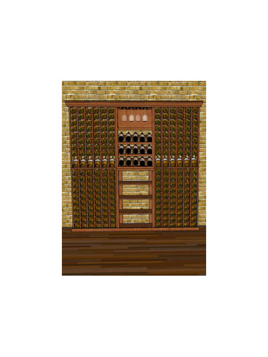 WineRacks.com - 7 Foot Width Combo 2 - Starting at: $1,428.00. Price differs depending on wood types
