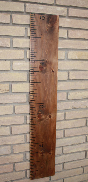 Solid Wood Vintage Ruler Growth Chart by Ry Angel's Creations contemporary-growth-charts