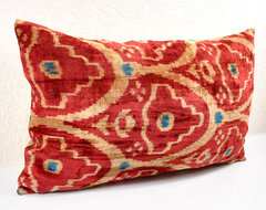 red velvet ikat pillows asian pillows