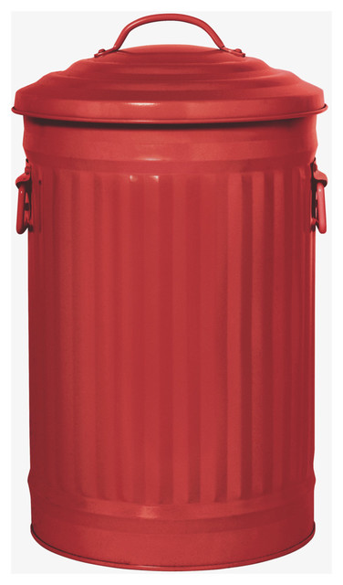 Alto Red 32L Bin modern waste baskets