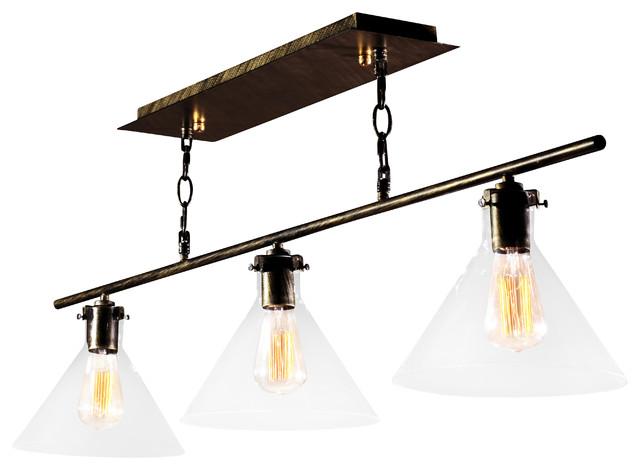 warehouse of tiffany amerie 3 light black island light. Black Bedroom Furniture Sets. Home Design Ideas