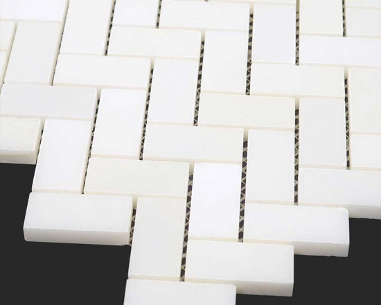 Thassos White Marble Polished 3/4 x 2 Herringbone Mosaic - Thassos White Marble Polished 3/4 x 2 Herringbone Mosaic http://allmarbletiles.com/tile-collections/collections/arctic-white-polish-marble-mosaic-tiles/thassos-white-polished-marble-herringbone-mosaic.html