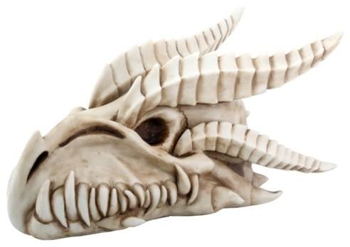 Small Dragon Skull Head Statue Figurine contemporary-holiday-decorations