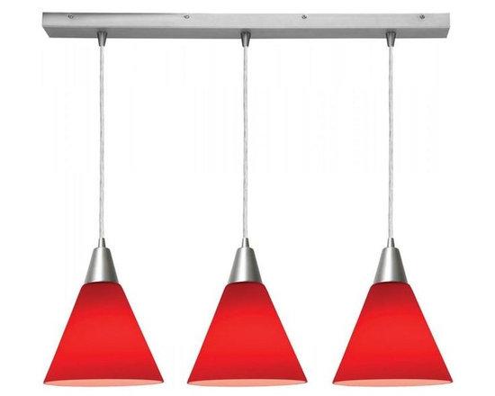Access Lighting 52304-BS/RED Three Light Island -