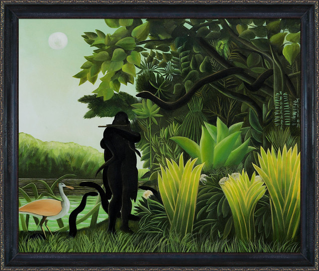 Rousseau - Snake Charmer Oil Painting modern-prints-and-posters