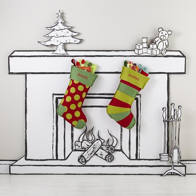 Contemporary Christmas Stockings And Holders by The Land of Nod