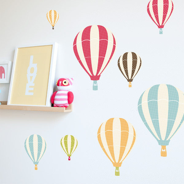Hot Air Balloon Wall Stickers contemporary-wall-decals