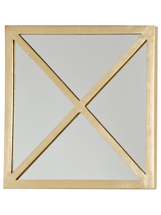 Worlds Away X Square Silver Leaf Mirror - Worlds Away X Square Silver Leaf Mirror.