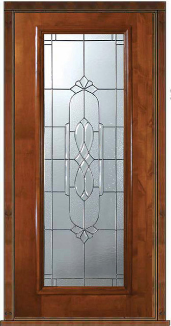 Prehung Exterior Single Door 80 Alder Kensington Full Lite Glass Mediterran
