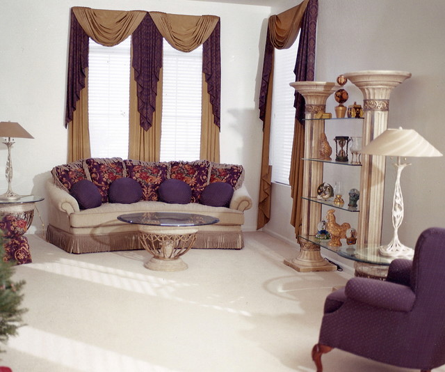 Custom Window Treatments traditional-living-room
