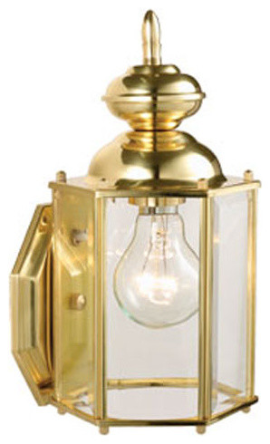 Augusta Solid Brass Outdoor Wall Mounted Light - modern - outdoor