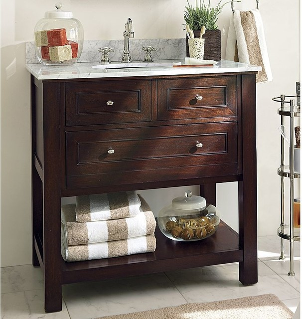 Classic Single Sink Console Traditional Bathroom Vanities And Sink Consoles Sacramento