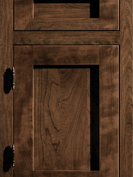 """Dura Supreme Cabinetry - Dura Supreme Cabinetry Homestead Panel Inset Cabinet Door Style - Dura Supreme Cabinetry """"Homestead Panel"""" inset cabinet door style in Cherry shown with Dura Supreme's """"Praline"""" gray stain finish."""