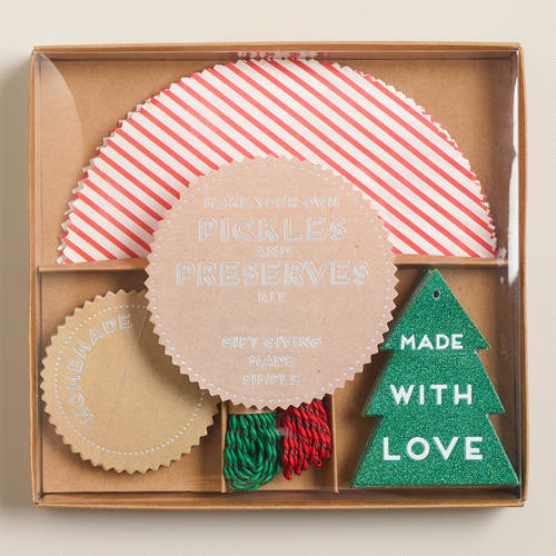 Meri Meri Candy Stripe Jarring Gift Kit contemporary-holiday-decorations