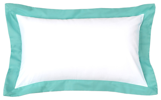 Decorative Pillows In Tiffany Blue : Tiffany Blue Flange Sham Pillow - Modern - Decorative Pillows - by LaCozi