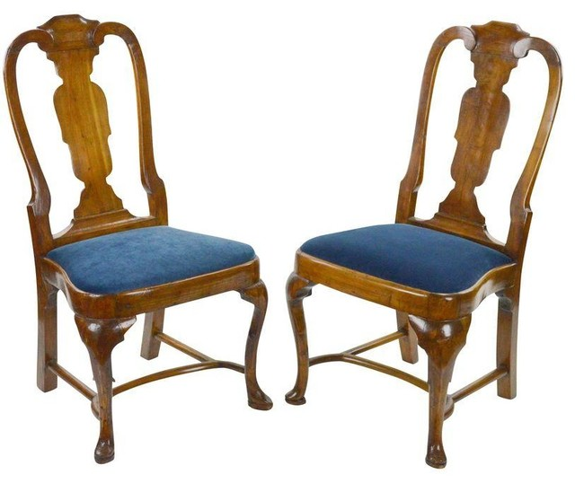 18th Century Antique Queen Anne Chairs A Pair  : transitional dining chairs from www.houzz.co.uk size 640 x 538 jpeg 59kB