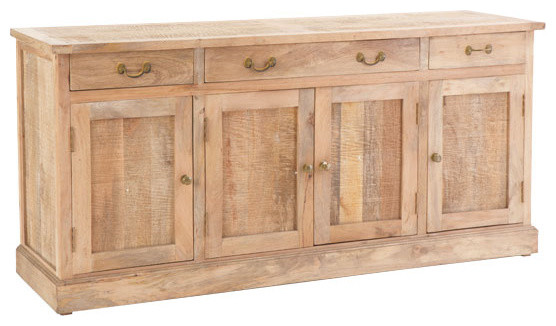 Rustic Wooden Buffet Console traditional buffets and sideboards
