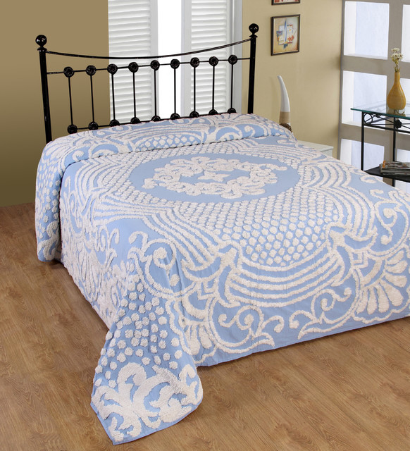 Florence Soft Cotton Chenille Bedspread Contemporary