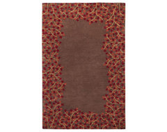 Surya Athena Coffee Border Rectangle Area Rug eclectic-rugs