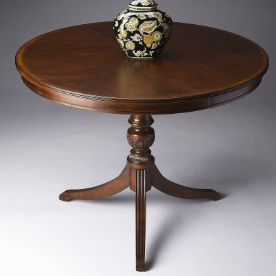 Butler Foyer Table 40 diam. - Plantation Cherry modern-indoor-pub-and-bistro-tables