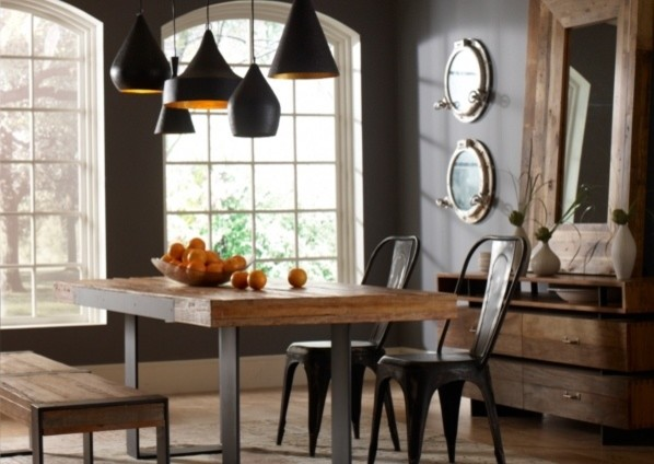 Industrial Dining Room eclectic dining room