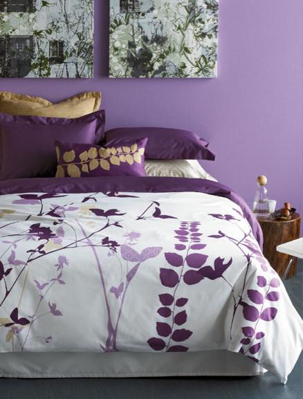 Amanda Purple Duvet Set - Modern - Duvet Covers And Duvet ...