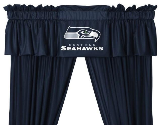 Seattle Seahawks Valance - Window Treatments - by SportsKids LLC