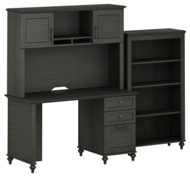 Kathy Ireland Office by Bush Furniture Small Office Bundle with Bookcase BBF Col traditional-desks