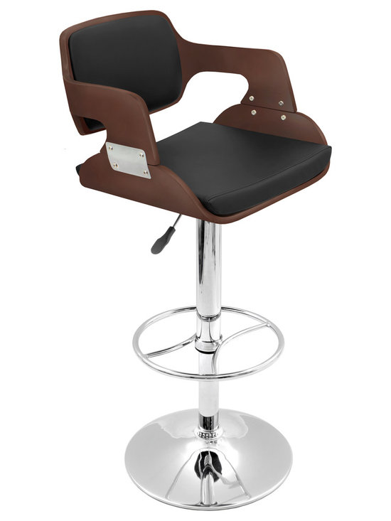 Fiore Bar Stool - CHERRY/BLACK