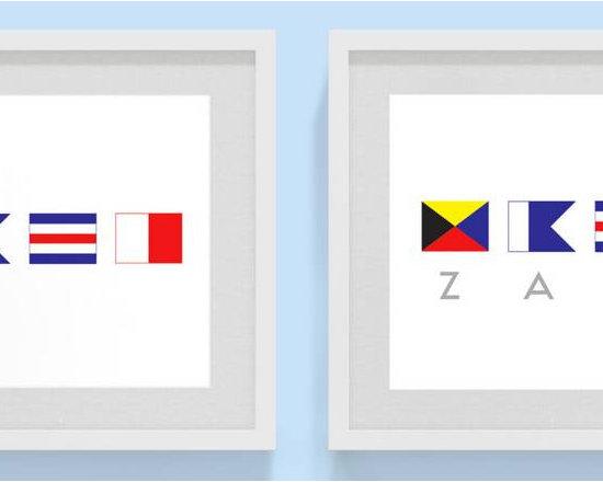 Custom Nautical Flag Print by Rigby & Fable -
