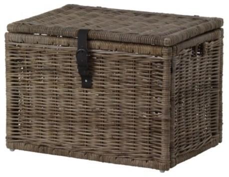 BYHOLMA Chest, Gray modern-baskets