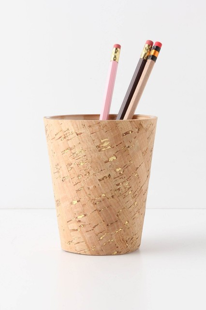 Bulletin Pencil Cup - Anthropologie.com contemporary desk accessories