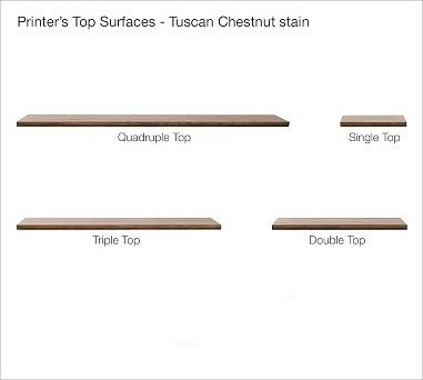 Printer's Single Top, Tuscan Chestnut stain traditional-filing-cabinets