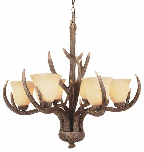 Deer antler ceiling lights