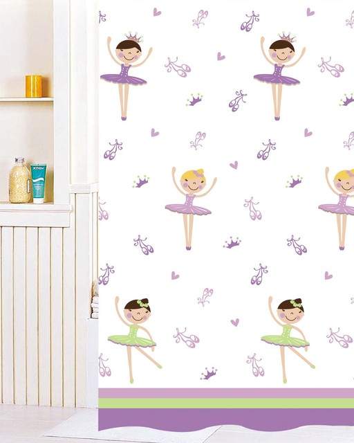 dancing girl Shower Curtain Contemporary Shower