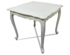 French Provincial Furniture Classic White Bed End Table / Coffee Tea Table