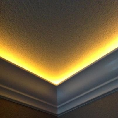 Lighted Crown Moulding Modern Other Metro By