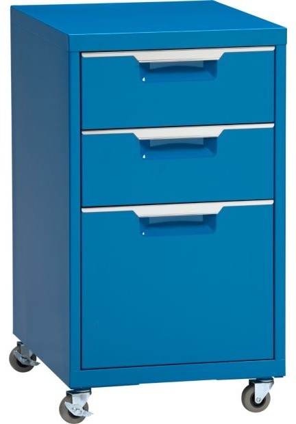 TPS Blue File Cabinet - Modern - Filing Cabinets - by CB2