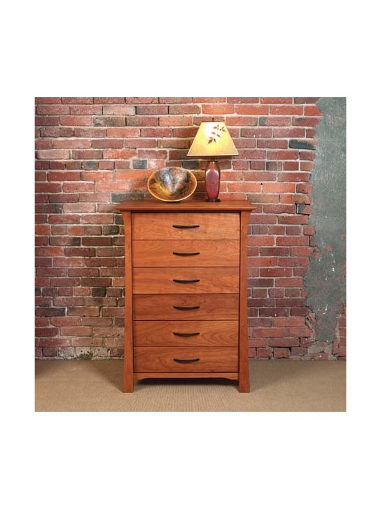 SHINTO 6 DRAWER VERTICAL DRESSER - East meets West with this Asian style arts and crafts solid hardwood bedroom collection.