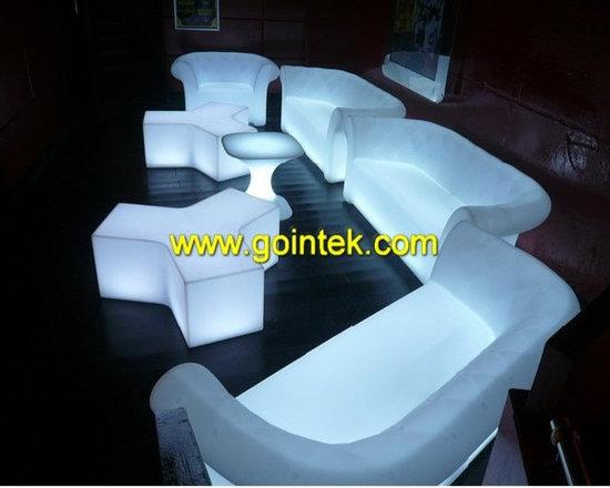 led cube stool for bar seat -