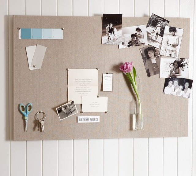 Linen Pin Board traditional bulletin board