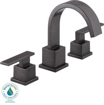 Bathroom Faucets and Supplies From Delta. Vero 8 in. Widespread 2-Handle High-Ar contemporary-bathroom-faucets-and-showerheads