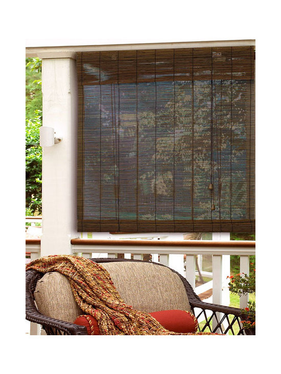 """Steve's Exclusive Collection Woven Wood Shades - In-Stock Matchsticks Roll-Up 72"""" Height"""