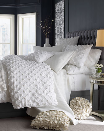 Puckered Diamond Bed Linens King Puckered Diamond Duvet Cover, 110 x 102 traditional duvet covers