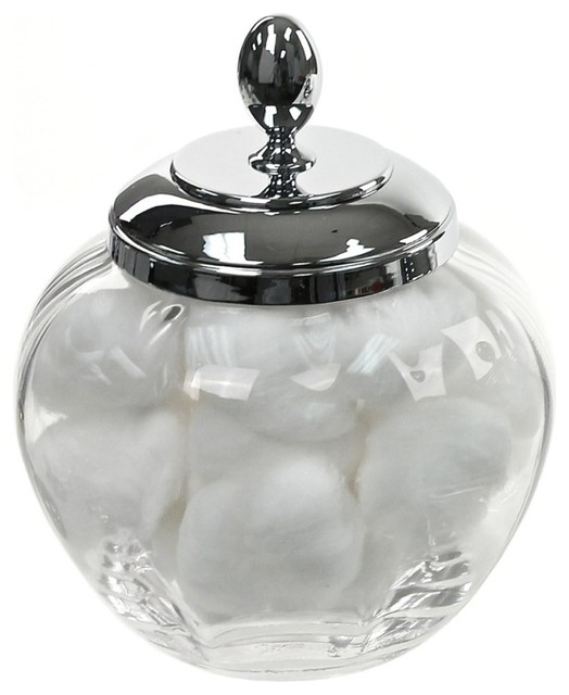 Cotton ball jar bathroom 28 images us acrylic break resistant plastic apothecary jars set of for Clear bathroom containers