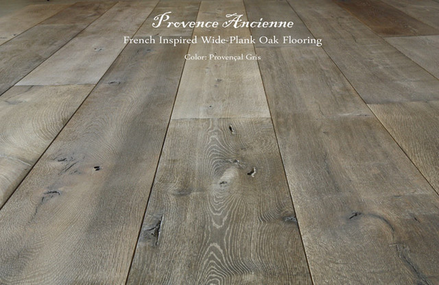 Provence Ancienne Wide Plank Oak Flooring - mediterranean - wood ...