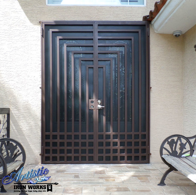 Wrought Iron Security Doors Modern Front Doors Las