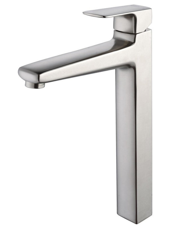Kraus - Kraus C-GV-103-12mm-15500BN Clear Brown Glass Vessel Sink and Virtus Faucet - Add a touch of elegance to your bathroom with a glass sink combo from Kraus