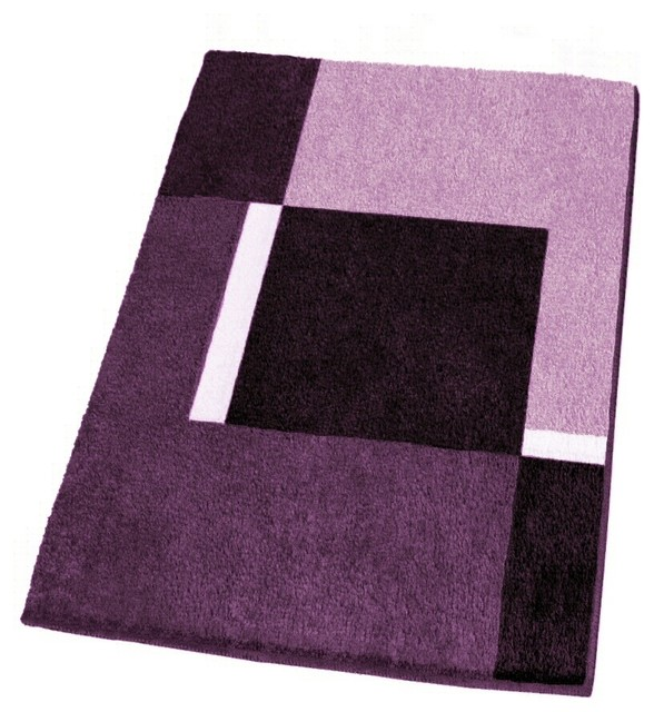 Modern Non Slip Washable Purple Bath Rugs Extra Large Modern Bath Mats By Vita Futura