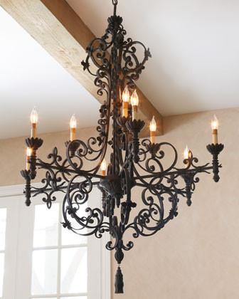 Currey & Company Conquistador Chandelier traditional-chandeliers